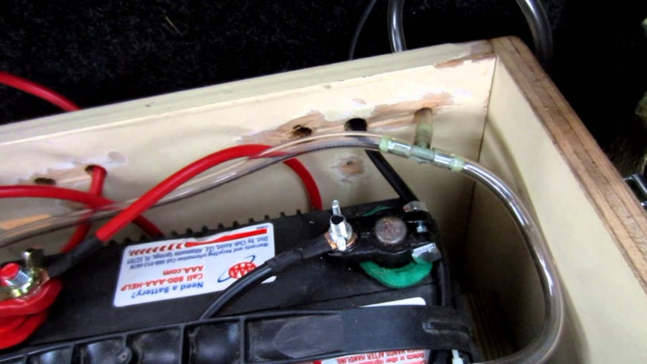 95 F150 Winch Battery Install In Enclosed Cap Youtube Wiring A Trailer