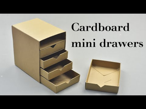 DIY Cardboard Mini Drawers Tutorial | Creative DIY