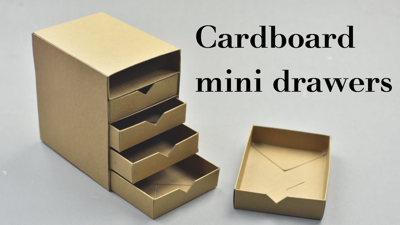 DIY Cardboard Mini Drawers Tutorial - YouTube
