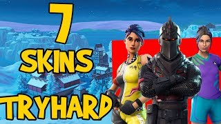 7 SKINS DE TRYHARD! - FORTNITE BATTLE ROYALE