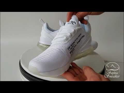 UA Air Max 270 White x OFF WHITE Sneaker Unboxing Review