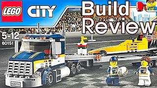 [생방송] 레고 시티 60151 드랙스터 수송차 조립 과정 리뷰 LEGO City Dragster Transporter Build Review
