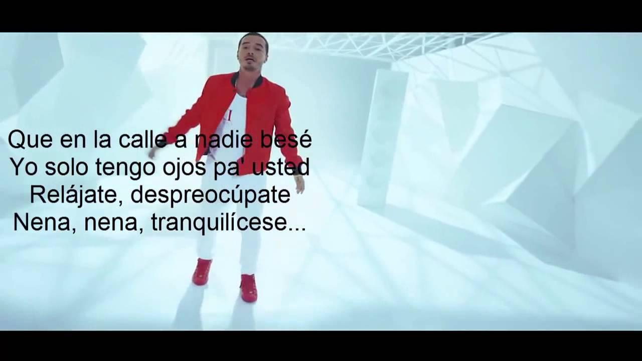 J Balvin Ay Vamos Letra Oficial Youtube
