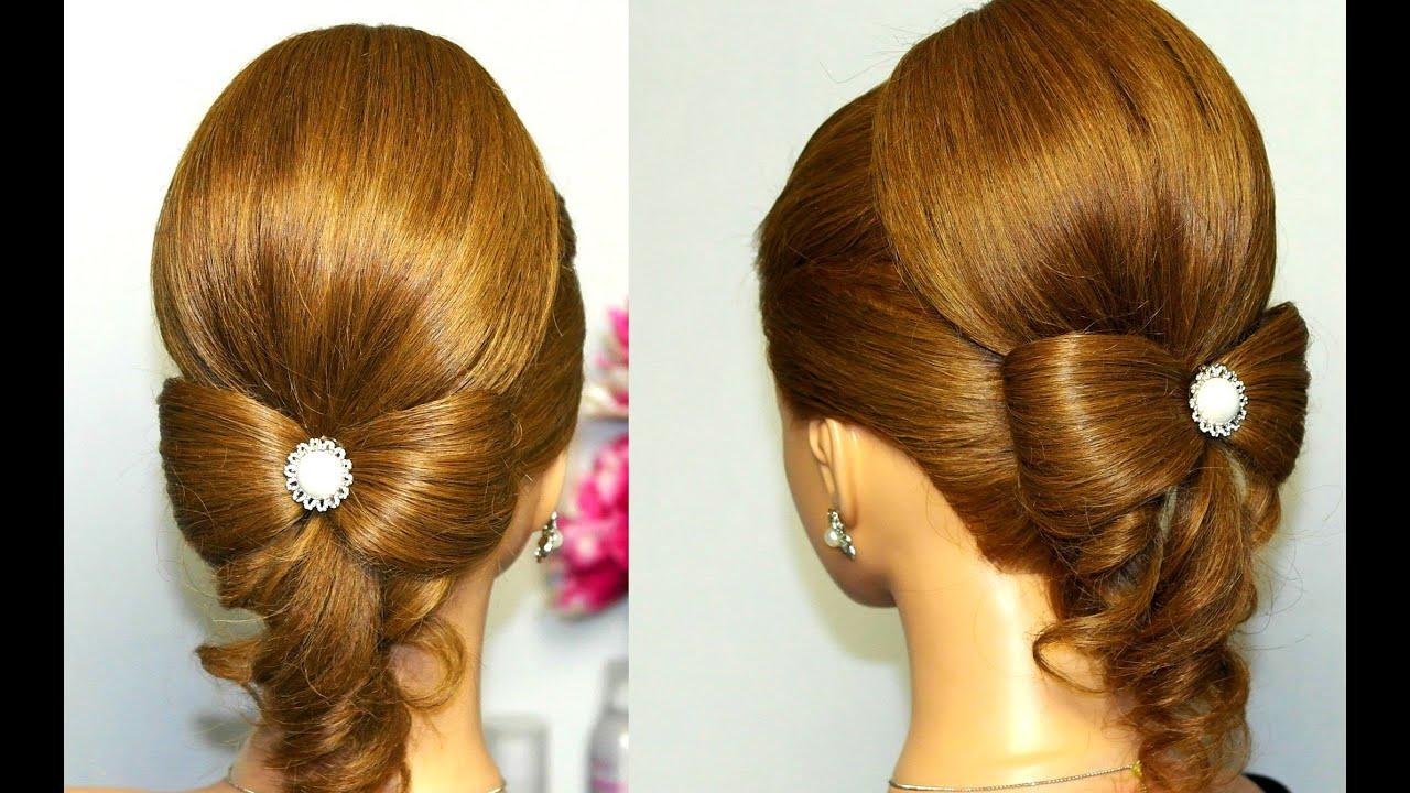 hairstyle long hair. hair bow