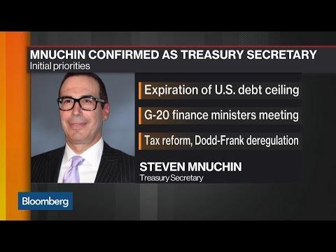 Steven Mnuchin Is Confirmed as Treasury Secretary