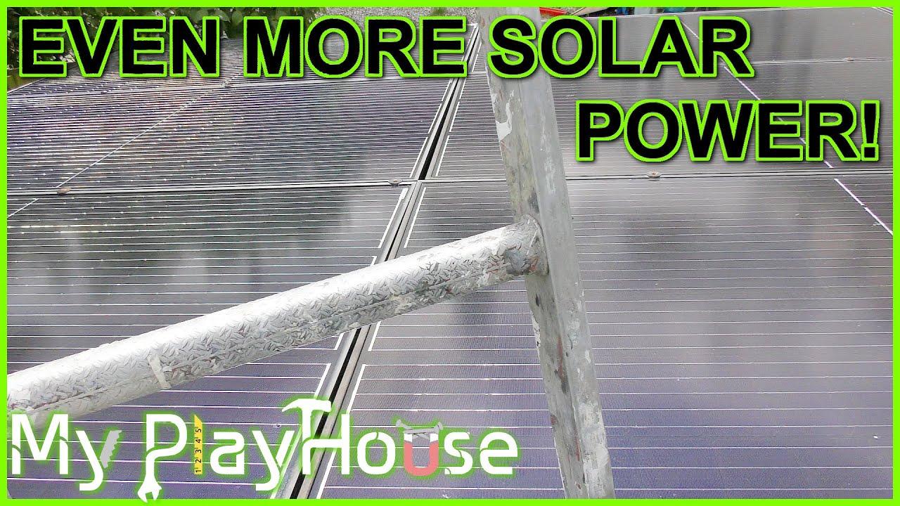 Doubles Solar Panel Power Capacity at My PlayHouse - 870