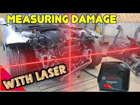 How To Use A Laser To Measure Auto Body Car Frame Damage Collision Repair Equipment Universal DIY