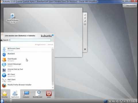 Kubuntu 12.10 Quantal Quetzal Alpha 1 Presentation