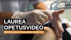 Ventrogluteaalinen injektio - opetusvideo hoitotyön opiskelun tukena