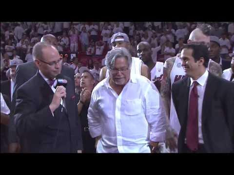 June 03, 2013- TNT -Playoffs Eastern Conf Finals Game 07 - Miami Heat Trophy Presentation