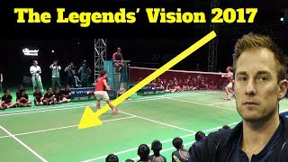 PETER GADE Vs LEE YONG DAE - LEGEND'S BADMINTON VISION TOUR 2017