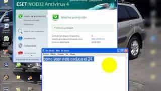 como actualizar el antivirus nod 32 sin renovar licencia ni comprar nada