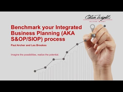 Benchmark your Integrated Business Planning AKA S&OP:SIOP pr
