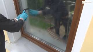 Мытье окон после ремонта фасада(Мытье окон после ремонта фасада с использованием автовышки и методом промышленного альпинизма. Освещение..., 2015-06-14T20:06:16.000Z)