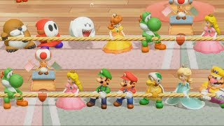 Super Mario Party - All Sport Minigames (All Characters)| Cartoons Mee