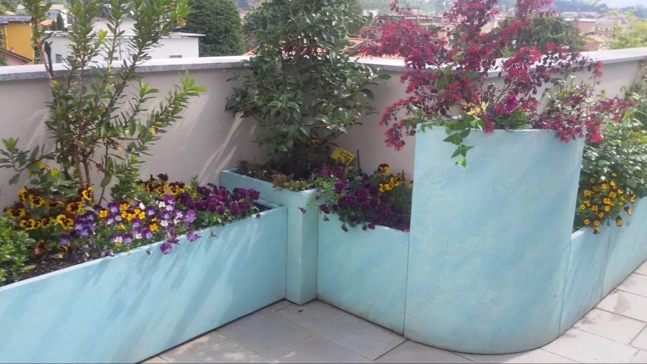 Realizzazione terrazzo con fioriere in cover art youtube for Idee per realizzare una fioriera