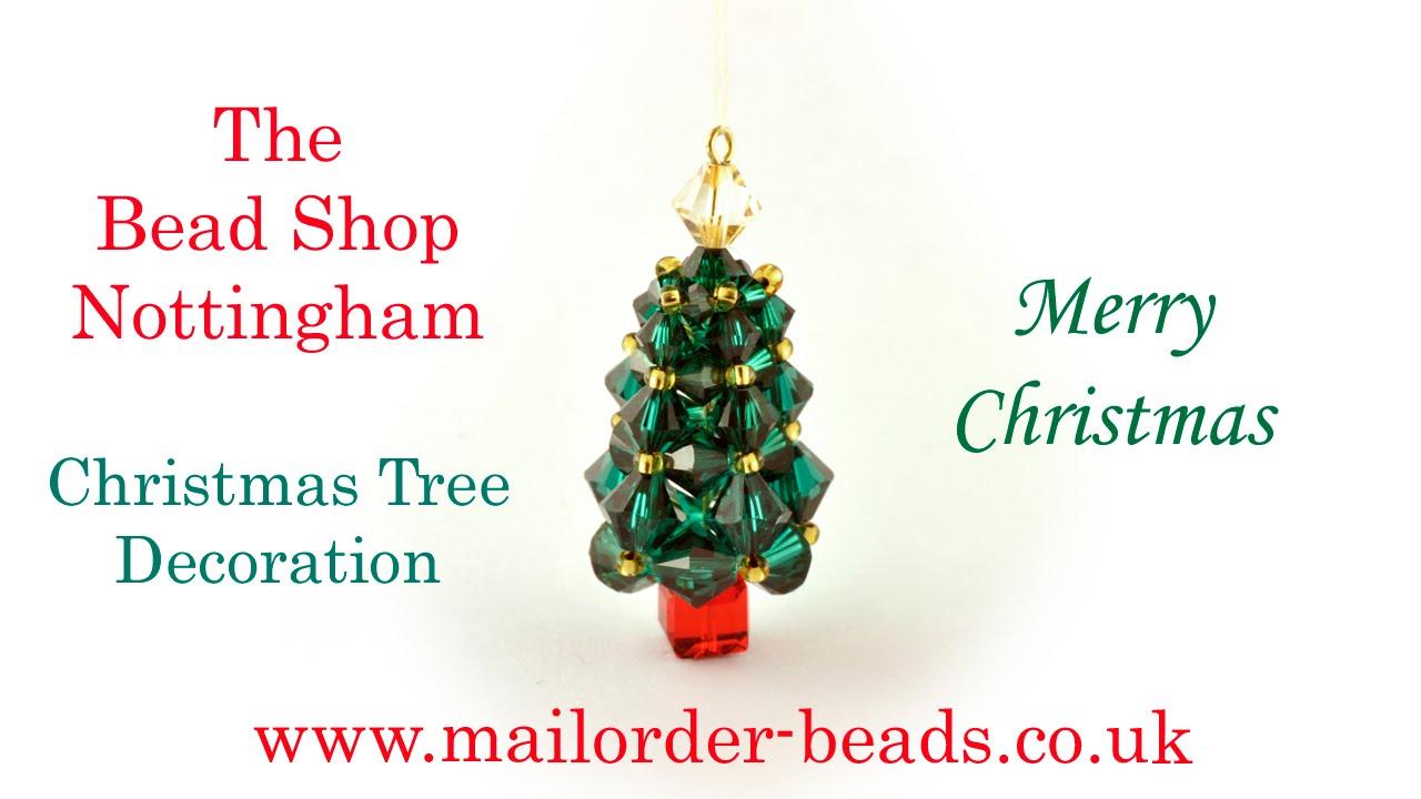 Swarovski Cubic Right Angle Weave Christmas Tree Decoration: DIY ...