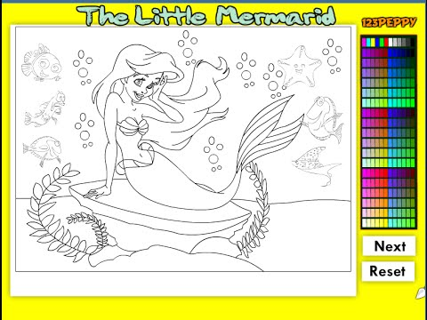 Little Mermaid Coloring Pages For Kids - Little Mermaid ...