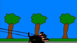 Riccardo Cartoon© - Skateboarding With Dachshunds