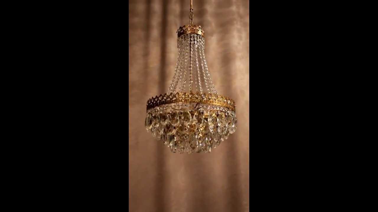 Antik Kronleuchter Lüster Kristall Lampe ~ Antik kristall kronleuchter deckenlüster lampe jugendstil messing