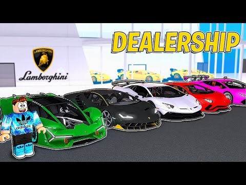 I MADE A LAMBORGHINI DEALERSHIP IN ROBLOX!!! | Car Dealership Tycoon
