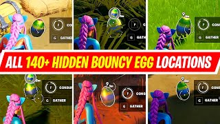All 140+ Hidden Bouncy Eggs Locations in Fortnite - All Forage Bouncy Eggs hidden around the island