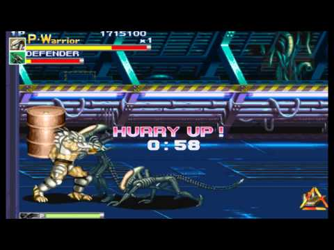 Alien Vs Predator Arcade Lev8 Predator Warrior no death playthrough