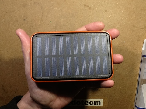 FAKE! 100,000mAh solar powerbank capacity test and opening.