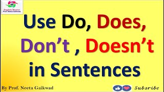 Use Do-Does-Don't-Doesn't in Sentences