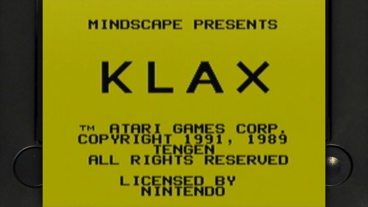 Klax on the Gameboy