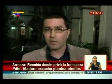 Vicepresidente Jorge Arreaza informa sobre reunión de Presidente Maduro con Lorenzo Mendoza