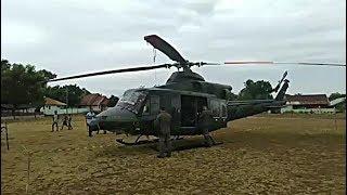 Helikopter Milik TNI AD Mendarat Darurat di Lapangan Bontoramba Jeneponto