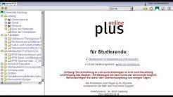 Plus Online Tutorial für Studenten der Uni Salzburg