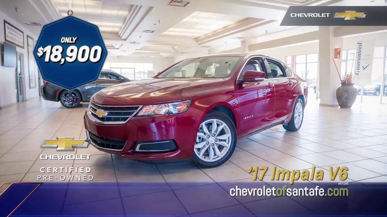 chevrolet cadillac of santa fe 2017 chevy impala certified youtube. Black Bedroom Furniture Sets. Home Design Ideas