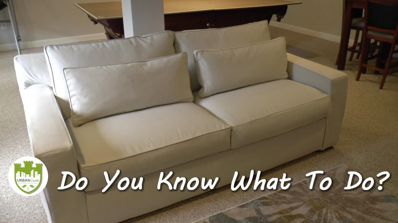 best way to fix a sofa bed velvet settee repair keeping you in the and not on floor youtube