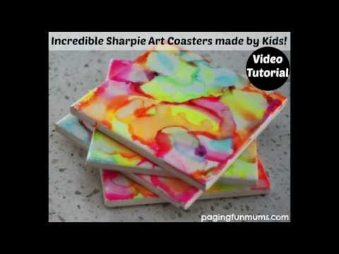 incredible-sharpie-art-coasters-made-by-kids