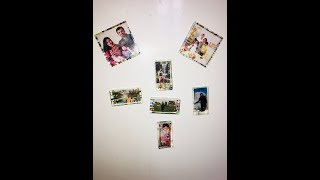 Photo magnet with resin