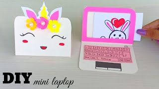 How to make paper laptop / DIY Miniature laptop / Origami laptop /Paper crafts /Origami paper craft