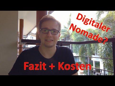 Zusammenfassung (Fazit & Kosten) Thailand Reise - in Zukunft digitaler Nomade?