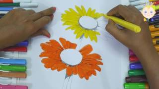 Coloring Sun Flower For Kids | Coloring color pages