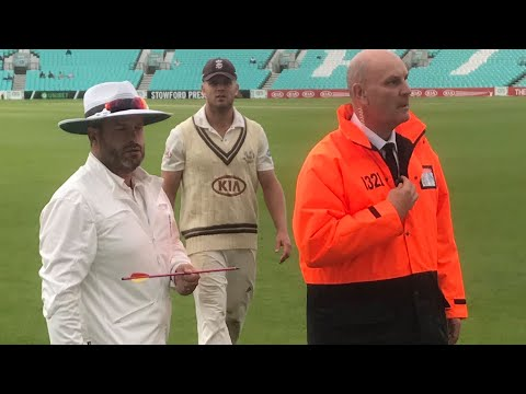 Commentators describe moment crossbow bolt lands on Oval pitch