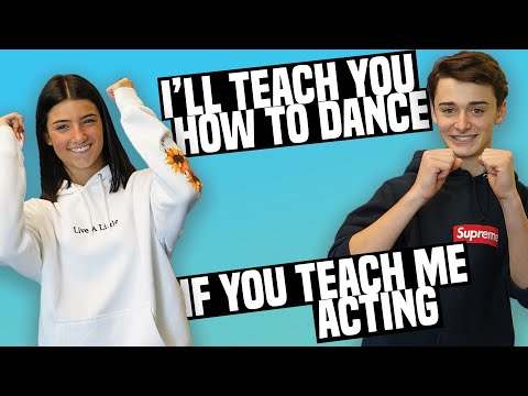 Noah Schnapp Teaches Me How To Act!  |  Charli D'Amelio