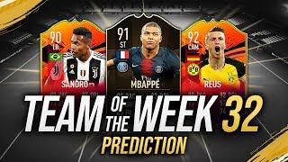 MBAPPÉ 91, REUS 91 & ALEX SANDRO 89! 😱 TOTW 32 PREDICTIONS FIFA 19 [FUT 19 ITA]