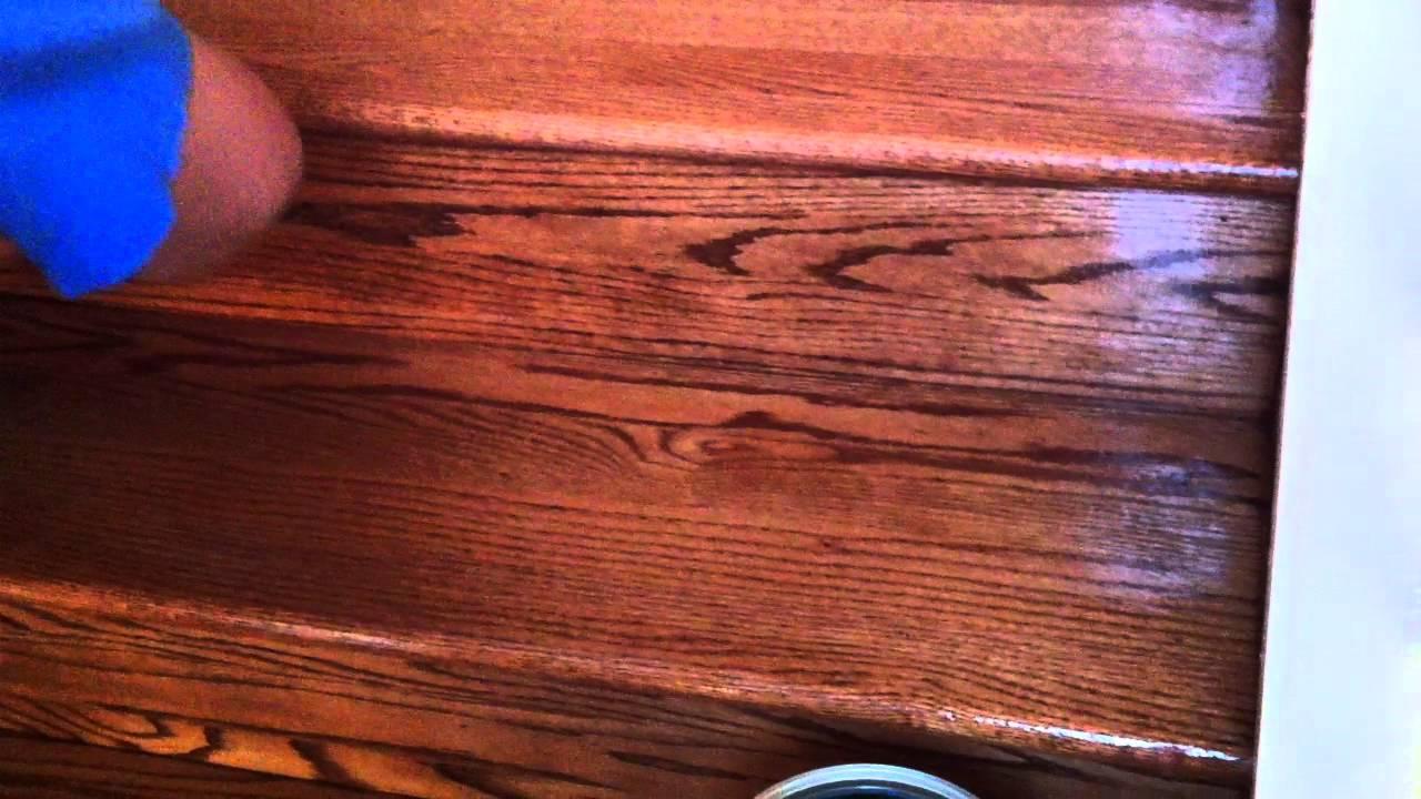 How To Refinish Oak Hardwood Stairs Applying The