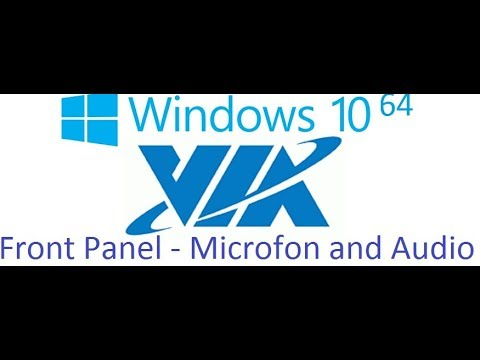 VIA HD Audio Windows 10 64 Front Panel