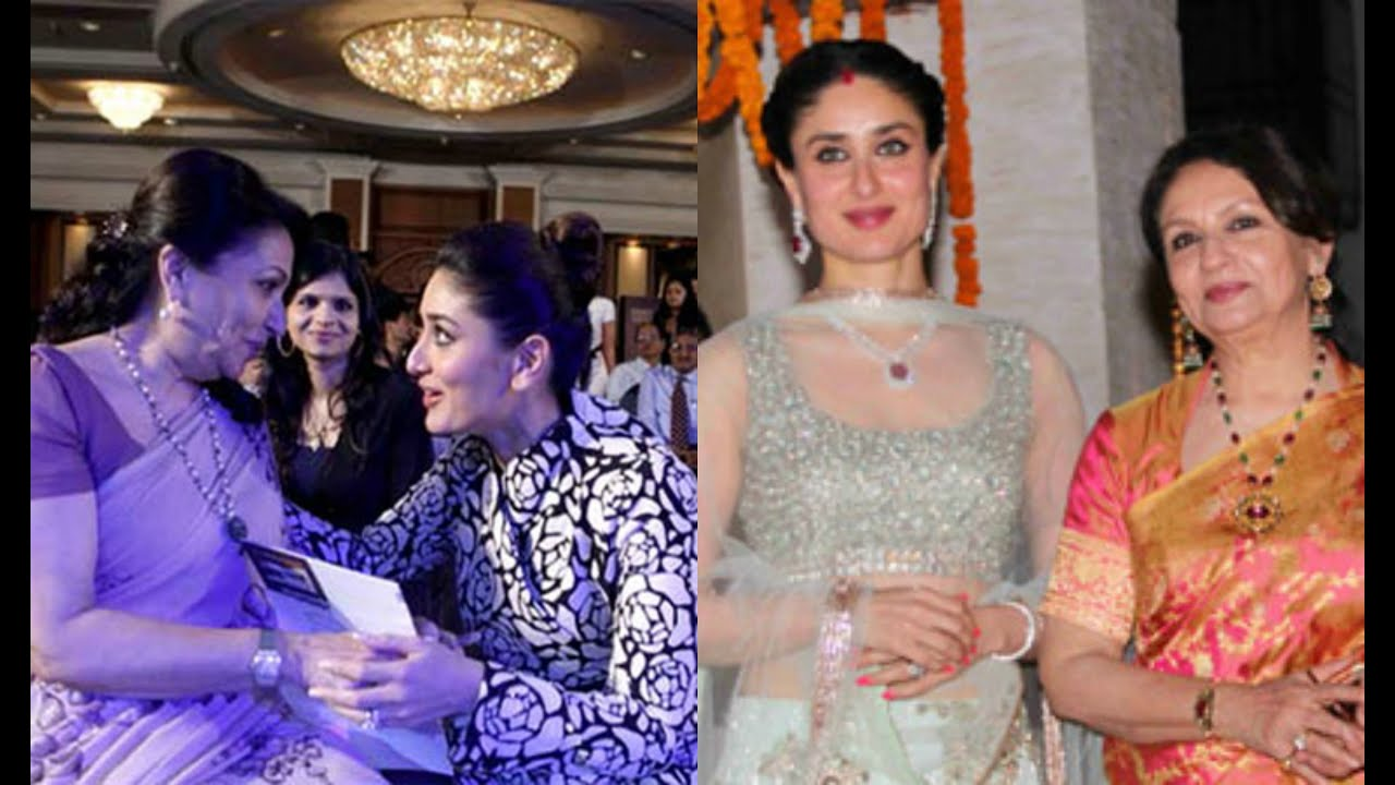 Kareena Kapoor And Sharmila Tagore Candid Pictures