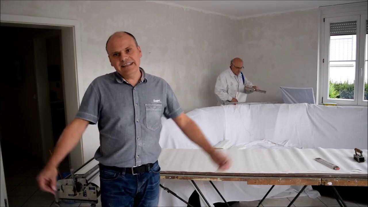 Extrem Renovierung vom Wohnzimmer Teil2 Tapezieren, Streichen und Möbel EI68