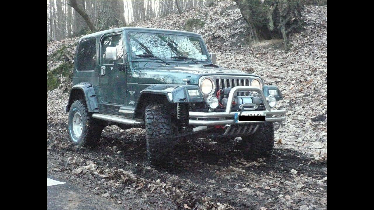 Jeep Tj 4 0 L Bf Goodrich Mud Km 2 33x12 5x15 Youtube