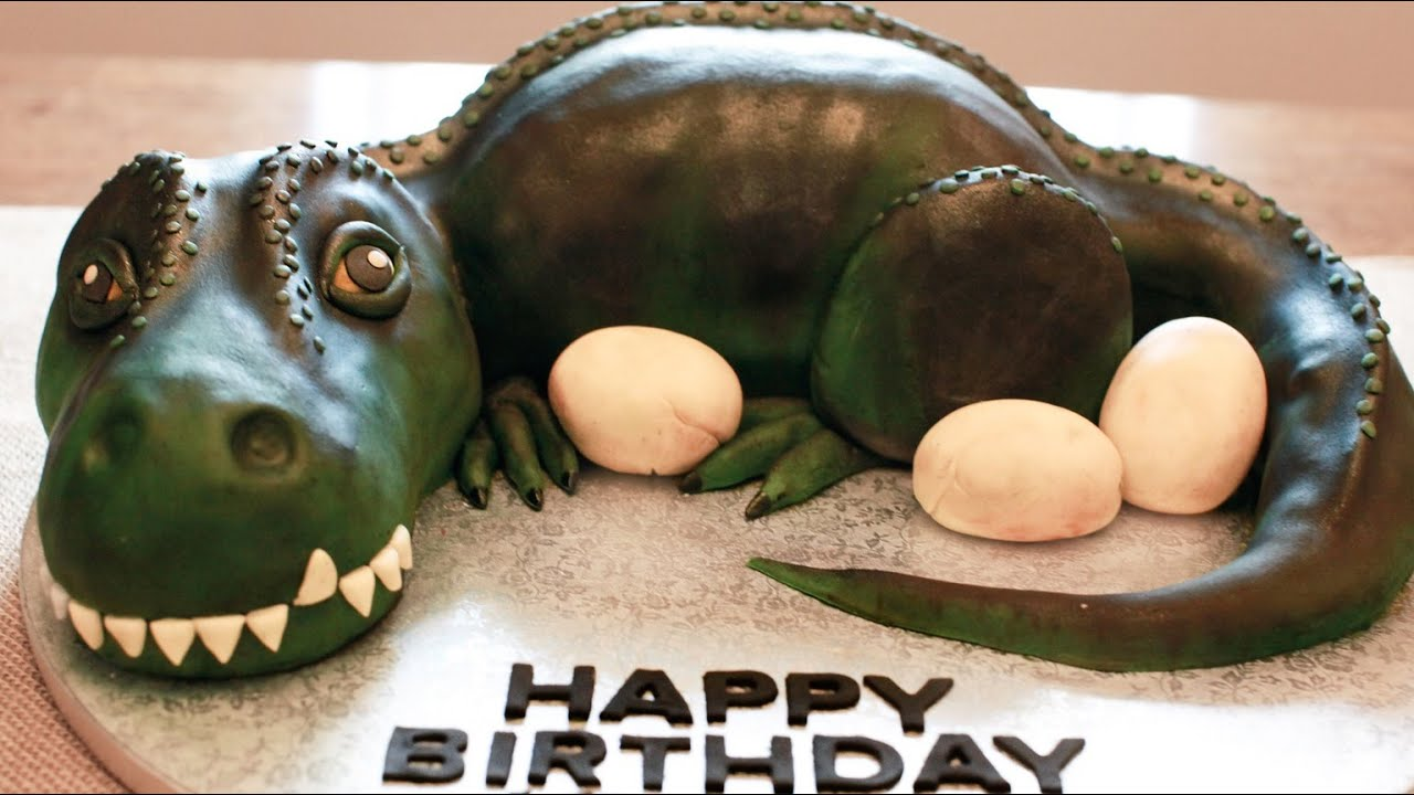 Dinosaur Cake Recipe How To Make Dinosaur Cake Recipe Dinosaur