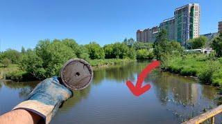 Река Пехорка не перестаёт радовать Поисковый магнит своими находками откуда столько металла там